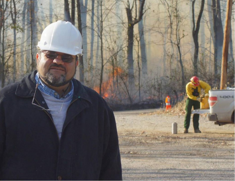 Kelly Cohen during a trip to the West Virginia Division of Forestry.